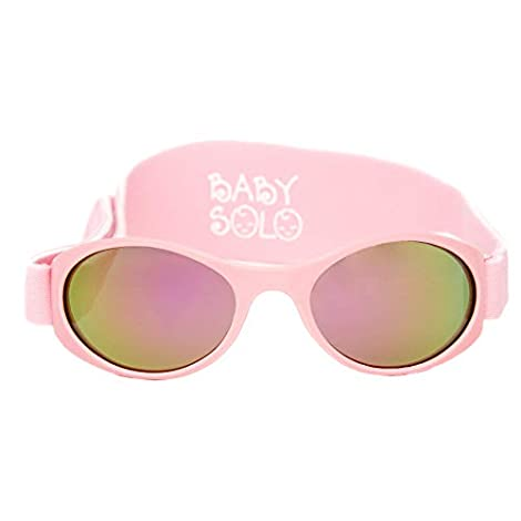 SAFE   Packaged, designed and tested in Miami, FL   BPA free protective polycarbonate frame and lenses. FUN TO WEAR   Soft, comfortable, removable and adjustable strap   Your baby will love them just as you do! PROMOTES EYE HEALTH   Our sunglasses we...
