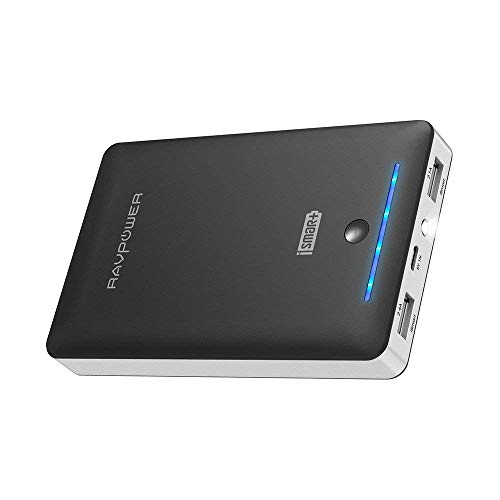 External Battery Pack RAVPower 16750mAh Portable Charger, Time-Tested Phone Charger with Dual 2.0 USB Ports & Flashlight, 4.5A Max Output Cell Phone Battery Power Pack (Renewed)