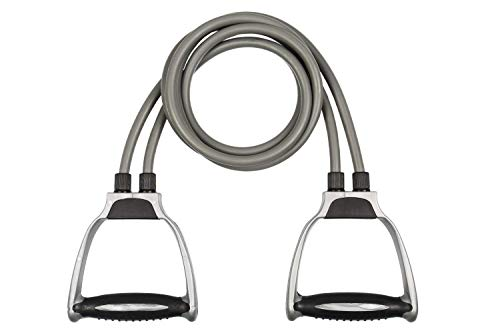 KINOKI Double Toning Tube Resistance Exercise Bands with Foam D-Handles for Stretching, Gym Workouts, Home Workout, Pilates Training for Men and Women (Multicolour)