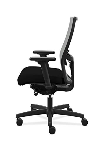 Product Image 5: HON Ignition 2.0 Mid-Back Adjustable Lumbar Work Fog Mesh Computer Chair for Office Desk (Black Fabric)