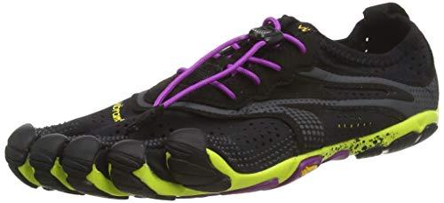 Vibram FiveFingers 16W3105 V-RUN, Sneaker Damen, Mehrfarbig (Schwarz / Gelb / Lila), 39 EU