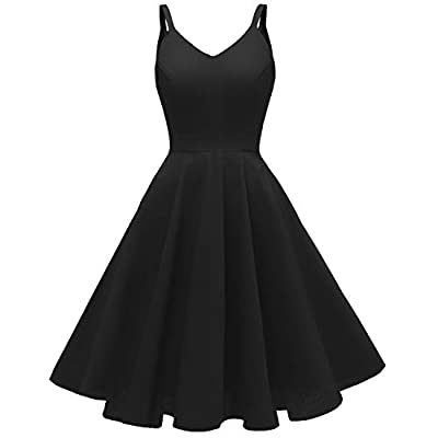 50s Style Dress Features: spaghetti strap, a line, zipper closure, with pockets Washing Way: Machine or hand wash cold Size: Please refer to the SIZE CHART on the left in product description Not the amazon SIZE CHART Occasion: Daily Casual, Homecomin...