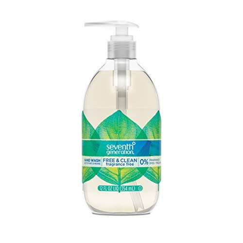 Seventh Generation Hand Wash Soap, Free & Clean Unscented, 12 oz,...