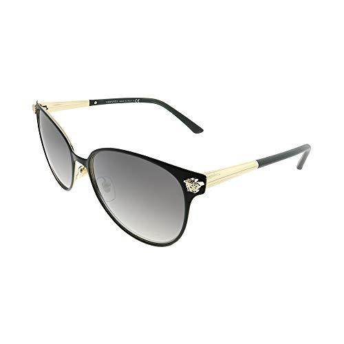 MATTE BLACK PALE GOLD/GREY SILVER SHADED Size 57/16/140 2-Year International Warranty