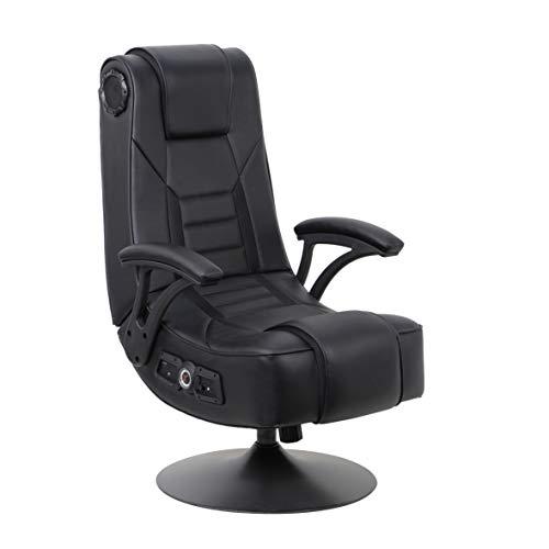 X Rocker Mammoth Pedestal 2.1 BT PC Office Gaming Chair, 32' x 26' x 40.9', Black