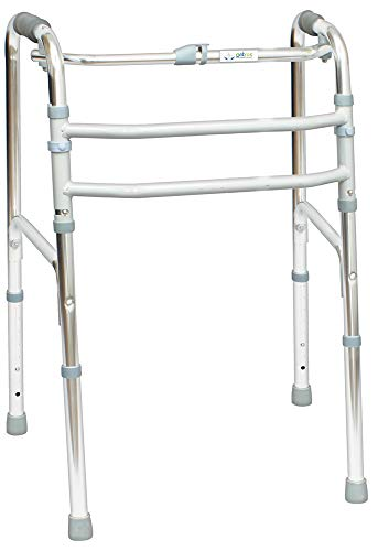 Entros Premium Light Weight Aluminum Height Adjustable Reciprocal Folding Walker - KL915L