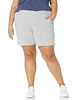 """Wide, ribbed waistband with adjustable outer drawcord Soft, stretch cotton jersey fabric Spacious front pockets Side slits at hem for extra flexibility 7"""" inseam"""