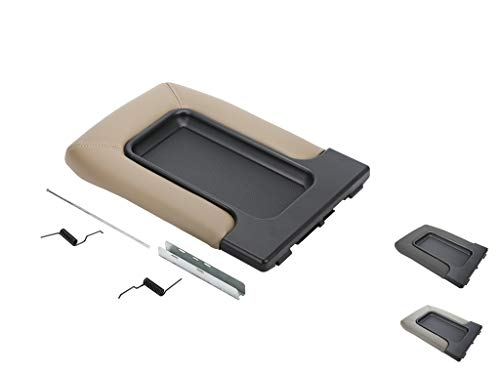 VeCarTech Center Console Lid/Cover Armrest Repair Kit Compatible with 99-07 Chevy Silverado,Tahoe,Suburban,Avalanche,GMC Sierra,Yukon,Escalade-Replaces 19127364,19127365,19127366,Beige