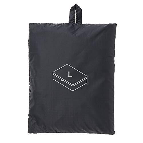 無印良品 パラグライダークロスたためる仕分けケース・L (新)黒・約40×53×10cm 02868956