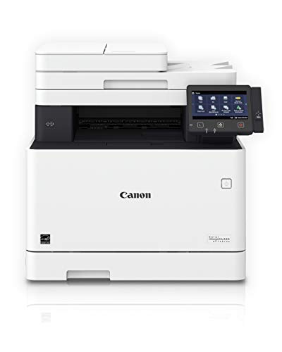 Canon Color Image CLASS MF743Cdw - All in One, Wireless, Mobile Ready, Duplex Laser Printer (Comes with 3 Year Limited Warranty), White, Mid Size, Amazon Dash Replenishment Ready