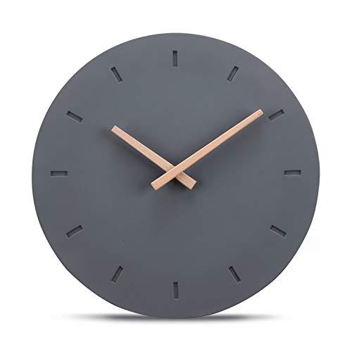 Cander Berlin MNU 6130 G Designer Wanduhr aus Beton mit lautlosem Uhrwerk - 30,5 cm Ø - kein nerviges Ticken