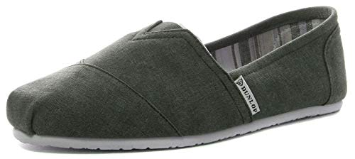Dunlop - Alpargatas de lona para hombre, color negro, talla 40.5