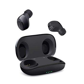 AUKEY Écouteurs Bluetooth sans Fil, Bluetooth Sport Oreillettes Intra-Auriculaires IPX5 étanche, Stéréo Haute Fidélité Portable, Contrôle Tactile et Antibruit Automatiquement, avec Étui de Chargement