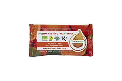 12x Barrita de higo ecológica con naranja y pasas - Snack de higo bio