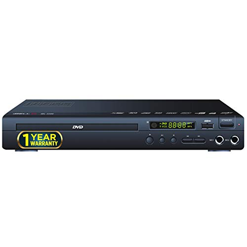 iBELL 2288 Prime DVD Player Channel with USB Port | USB Copy Function & Built-in Amplifier, Black