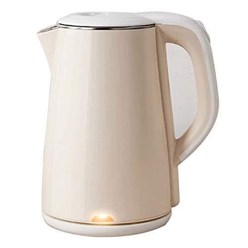 Wsaman Edelstahl Elektrischer Wasserkocher, Großer Kapazität Elektrischer Wasserkocher 1.8 Liter Automatischem Abschaltschutz für Saft/Milch/Tee,Gelb