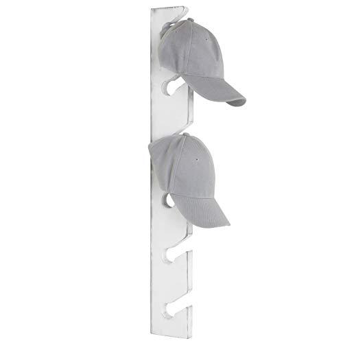 MyGift Barnwood Gray Wood Wall Mounted 6-Slot Baseball Cap Display Rack