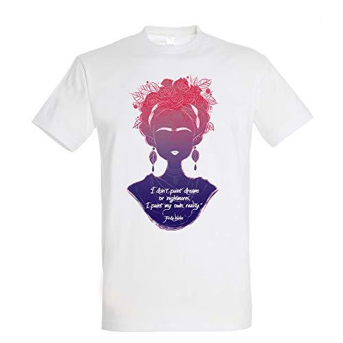 Pampling T-Shirt I Paint My Own Reality - Frida Khalo - Cotone 100% - Serigrafia di Alta Qualità.