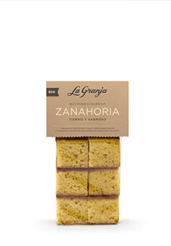 LA Granja Bizcocho Zanahoria 300 G, Sin Potenciadores Del Sabor, 6 Unidad