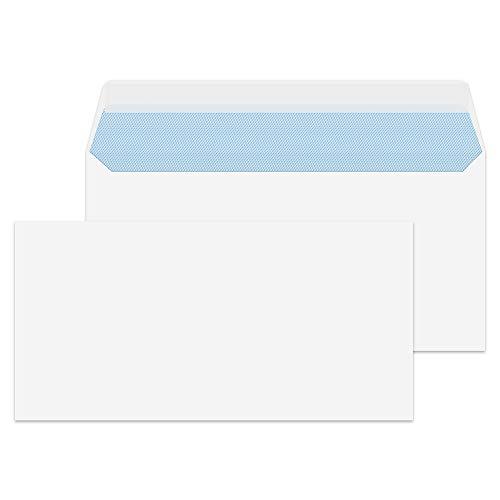 Purely Everyday - Sobre DL (500 unidades, 110 x 220 mm, 100 g/m², cierre autoadhesivo), color blanco