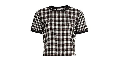 69% viscose, 30% acrylic, 1% elastane fabric Rib-knit contrast trim Crewneck