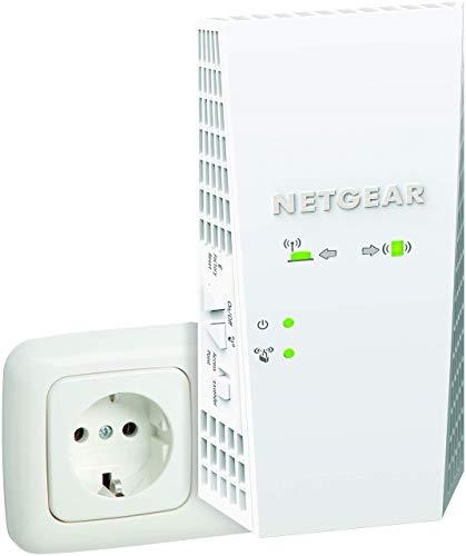 NETGEAR Répéteur WiFi Mesh (EX7300), Amplificateur WiFi AC2200, WiFi Booster, 2.2 Gigabit/s, repeteur wifi puissant compatible avec toutes Box Internet, 1 seul nom de réseau et itinérance transparente