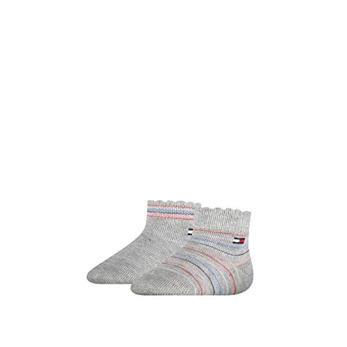 Tommy Hilfiger Multicolour Baby Socks (2 Pack) Calzini, Chiaro Grigio Melange, 23-26 Bimbo