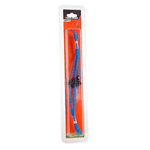 BLACK+DECKER Filo Nylon HDL per Tagliabordi, 10 pezzi X 2,5 mm, Colore Verde, A6489-XJ