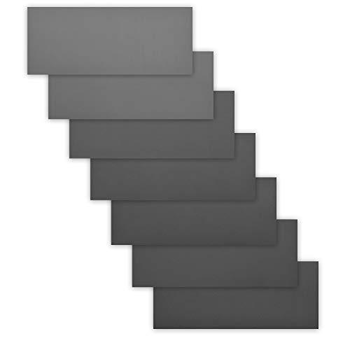 Navaris 42x Hand Schleifpapier nass und trocken - 800-3000 Körnung - 93x230mm - wasserfest - Nassschleifpapier Set für Metall Holz Keramik Stein