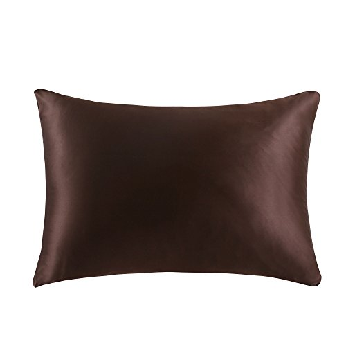 OOSILK 100% Mulberry Silk Pillowcase for Hair King 20in x 36in, Ivory,Gift Wrap,1pc