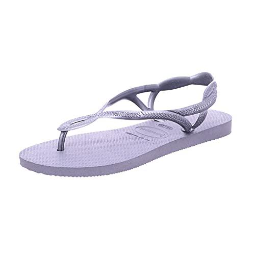 Havaianas Luna, Sandalias de Talón Abierto para Mujer, Gris (Steel Gray), 39/40 EU