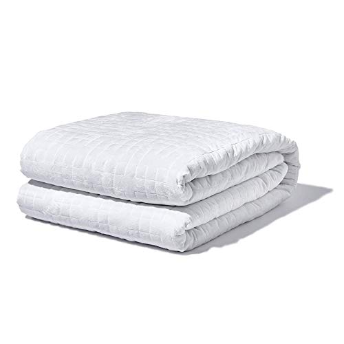 Gravity Blanket: The Weighted Blanket for Sleep - White, 48' x 72' Size, 20-Pound