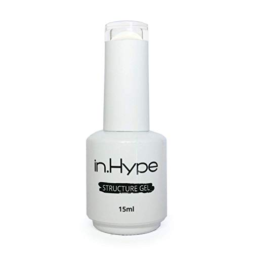 IN.HYPE Structure/Liquid Builder Gel/Hard Gel in a Bottle for Nail Enhancing (Milky White)