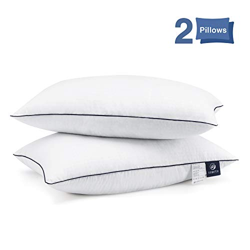 Bed Pillows for Sleeping 2 Pack, Hypoallergenic Pillow for Side and Back Sleeper, Hotel Collection Gel Pillows, Down Alternative Cooling Pillow with Soft Premium Plush Fiber Fill, King Size
