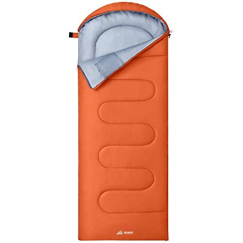 Semoo Saco de Dormir Impermeable, 190T de poliéster, Ligero para...