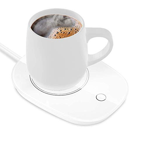 Coffee Mug Warmer,Cup Warmer for Desk with Touch Screen Switch,Automatic Shut Off Beverage Warmers for Coffee, Milk, Tea, Water,Safely Use for Office/Home (White)