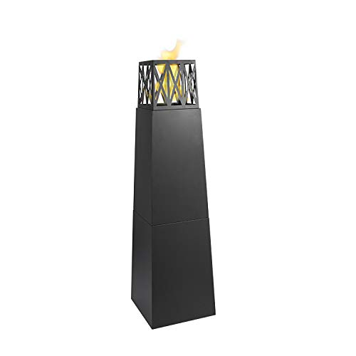 Blaze Free Standing bioethanol Fireplace with a 2L Round Single Layer Burner and extinguish Tool