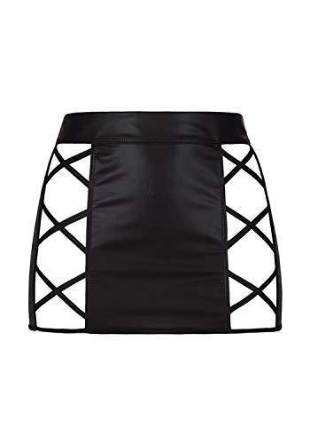 Axami Damen Minirock aus Latex L