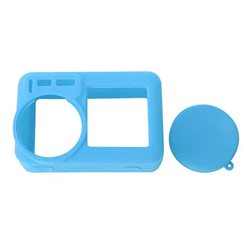 Lantro JS Prevenire dai Graffi Cover per Action Cam, Cover Protettiva per Fotocamera Ecologica, Cover per Fotocamera in Silicone, Antipolvere Portatile Elastico per DJI(Blue)