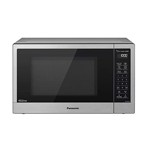 Panasonic Compact Microwave Oven with 1200 Watts of Cooking Power, Sensor Cooking, Popcorn Button, Quick 30sec and Turbo Defrost - NN-SN67KS - 1.2 Cubic Foot (Stainless Steel / Silver)