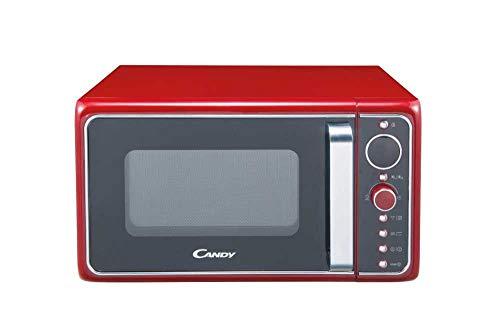 Candy DIVO G25CR Forno a Microonde con funzione Grill, 900W, 25 litri, Piatto rotante in vetro, 27 cm, Colore Rosso