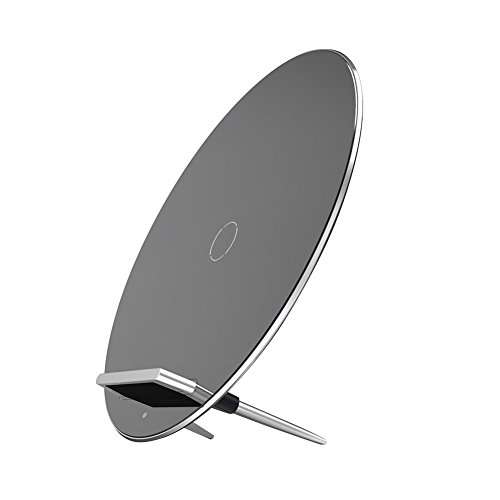 AUKEY Luna Qi Wireless Charging Pad for iPhone X / 8 / 8 Plus, Samsung Galaxy Note 8 / S8 / S8+, S7 / S7 Edge and other Qi-Enabled Devices