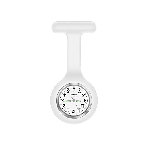 Nurse Watch,Nurse Watch Clip On,Nursing Watch,Clip Watches, Watch with Second Hand,Nurse Watch Nurse Gifts (White)