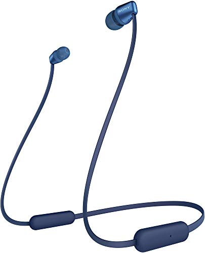 Sony WI-C310 Wireless Headphones with 15 Hrs Battery Life, Quick Charge, Magnetic Earbuds for Tangle Free Carrying, BT ver 5.0,Work from Home, in-Ear Bluetooth Headset with mic for Phone Calls (Blue)