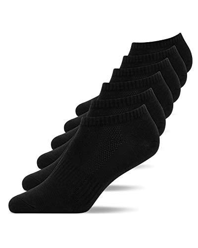 Snocks Calzini Uomo Corti Neri 6 Paia Calze Uomo Corte Pacco da 6 Nero Taglia 43-46 Sneaker Calze Uomo Cotone Calze Uomo Spugna Sportive Calzini Artengo