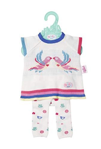 Zapf Creation 826966Baby Born Trend vestido de punto para set 43cm, rosa, color blanco , color/modelo surtido