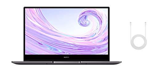 HUAWEI MateBook D 14 Zoll Laptop, FullView 1080p Full HD Ultrabook, 512 GB PCIe SSD, 8GB RAM, AMD Ryzen 5 3500U, Fingerabdrucksensor, versteckbare Kamera, Windows 10 Home - grau