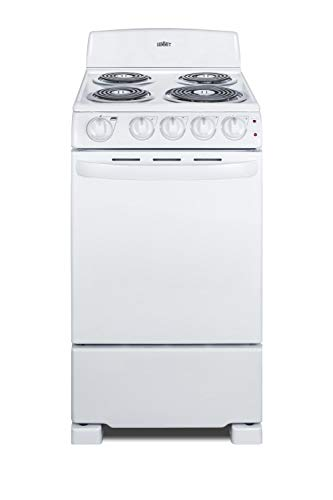 Summit RE203W 20 Inch Wide 2.3 Cu. Ft. Free Standing Electric Range with Sensor Cooking
