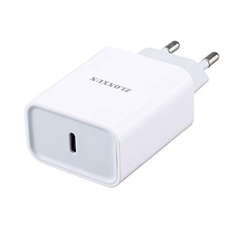ZLONXUN Caricatore USB-C Caricabatterie PD Ricarica Rapida Compatible with iPhone 12/12 Pro/11 Pro/11 PRO Max/11/12 PRO Max/12 Mini, iPad Air 3/4, Mini 5, iPad PRO 11/12.9/10.5 inch,iPad 7/8