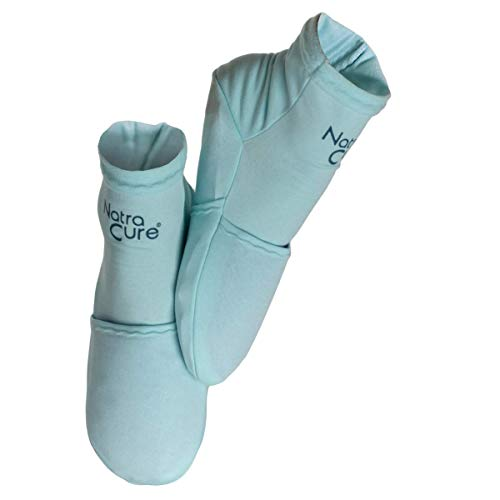 NatraCure Cold Therapy Socks - Reusable Gel Ice Frozen Slippers for Feet, Heels, Swelling, Edema, Arch, Chemotherapy, Arthritis, Neuropathy, Plantar Fasciitis, Post Partum Foot, - Size: Small/Medium